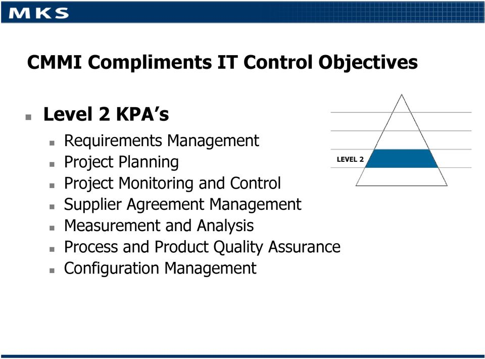 and Control Supplier Agreement Management Measurement and