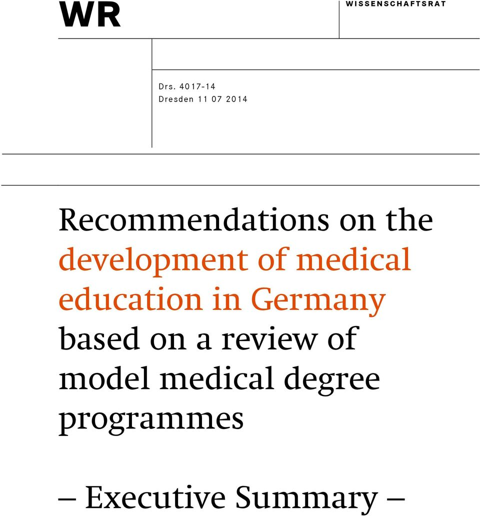the development of medical education in Germany