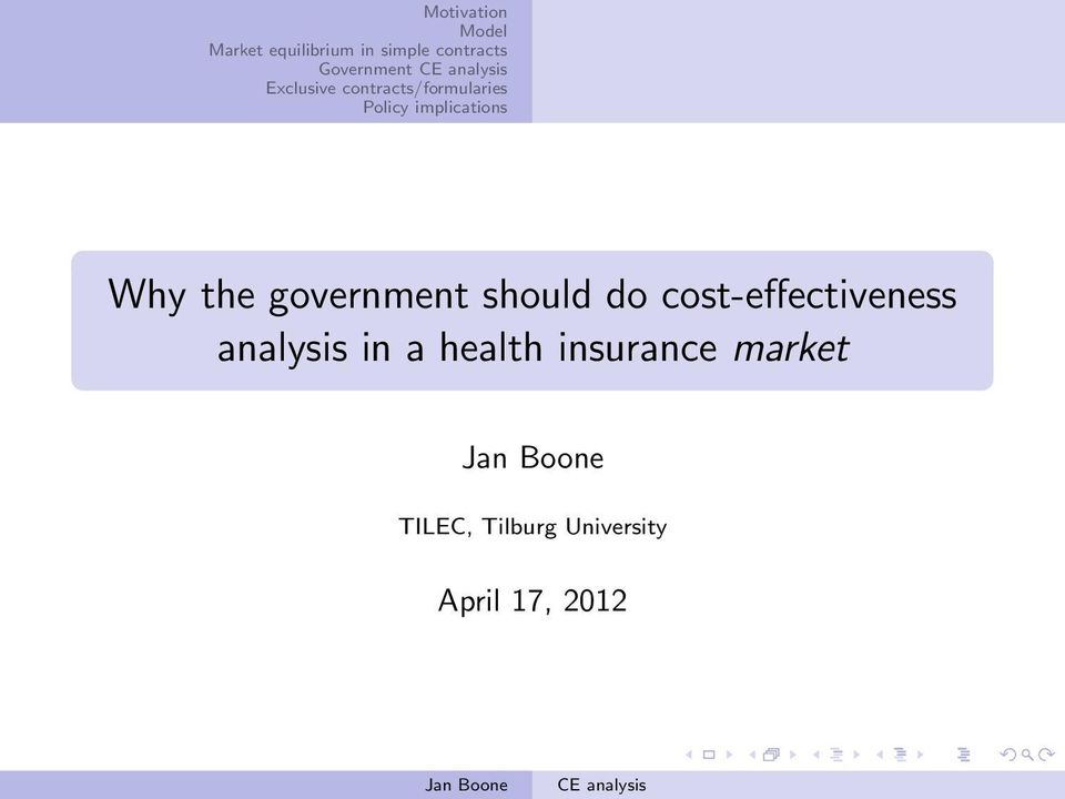 analysis in a health insurance