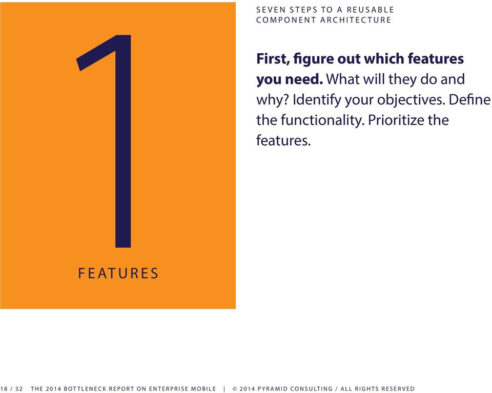 which features you need. What will they do and why? Identify your objectives.