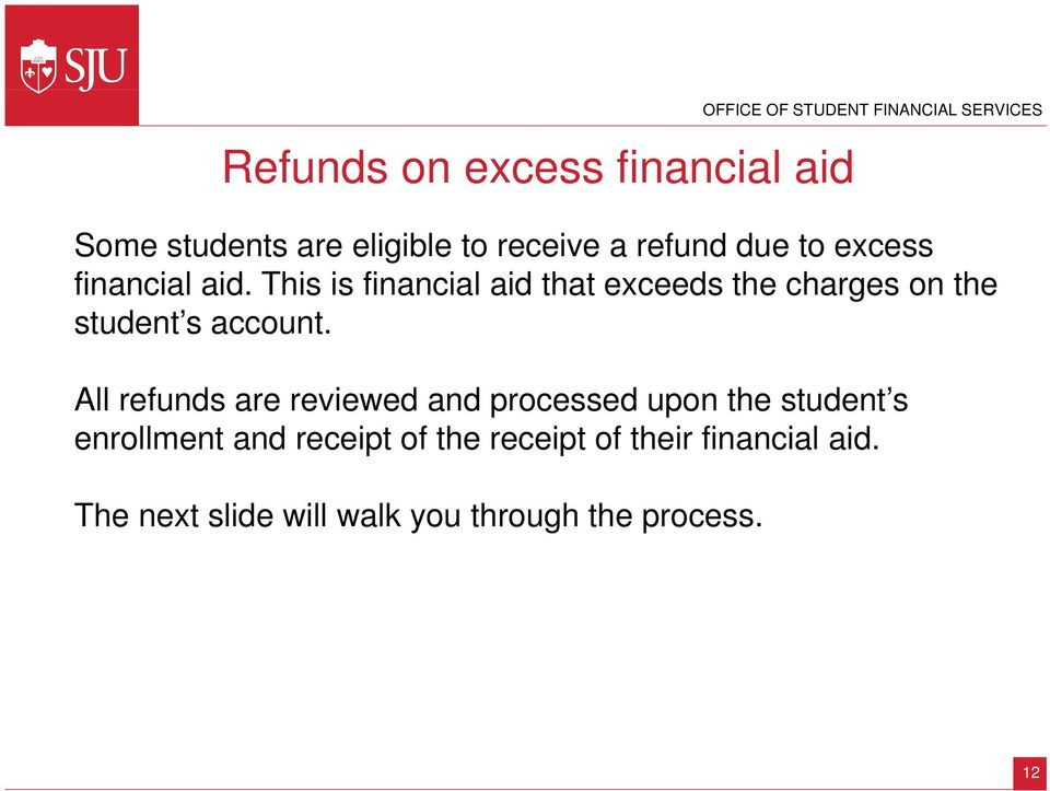 This is financial aid that exceeds the charges on the student s account.