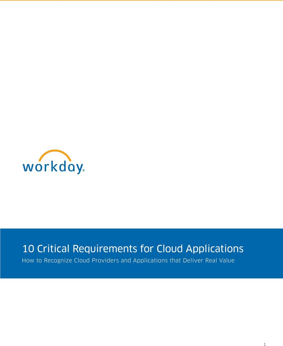 Recognize Cloud Providers and