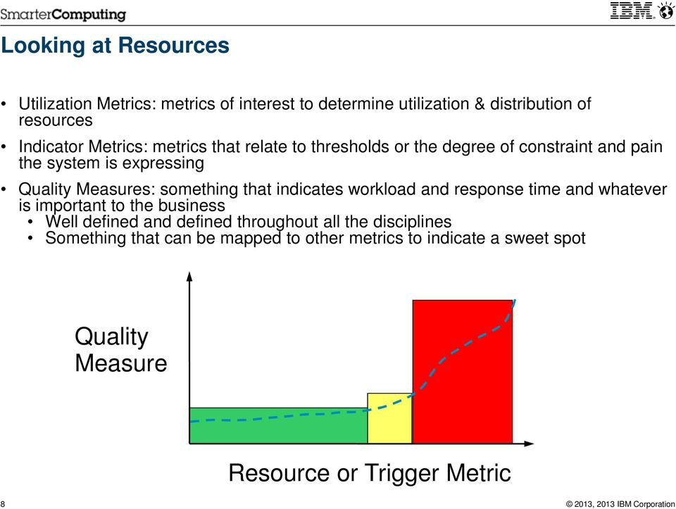 something that indicates workload and response time and whatever is important to the business Well defined and defined