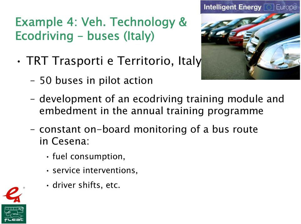 buses in pilot action development of an ecodriving training module and