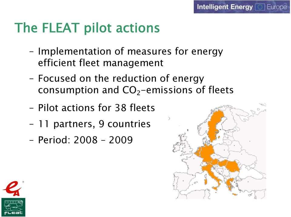 of energy consumption and CO 2 -emissions of fleets Pilot