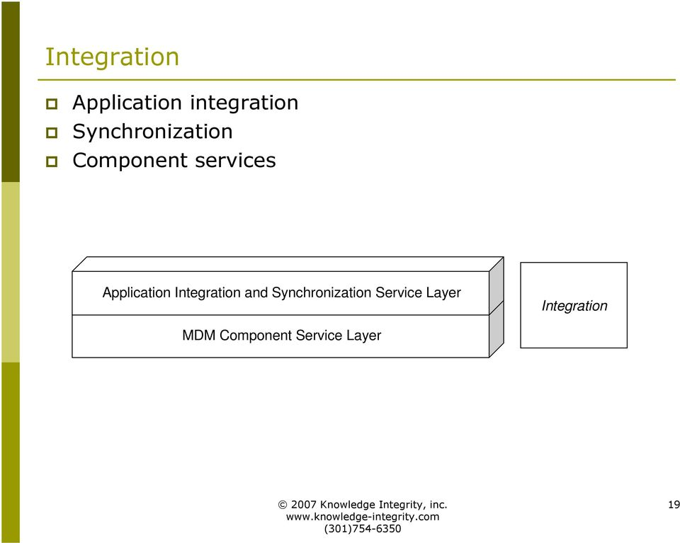 Application Integration and