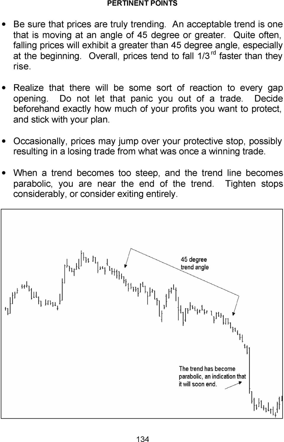Realize that there will be some sort of reaction to every gap opening. Do not let that panic you out of a trade.