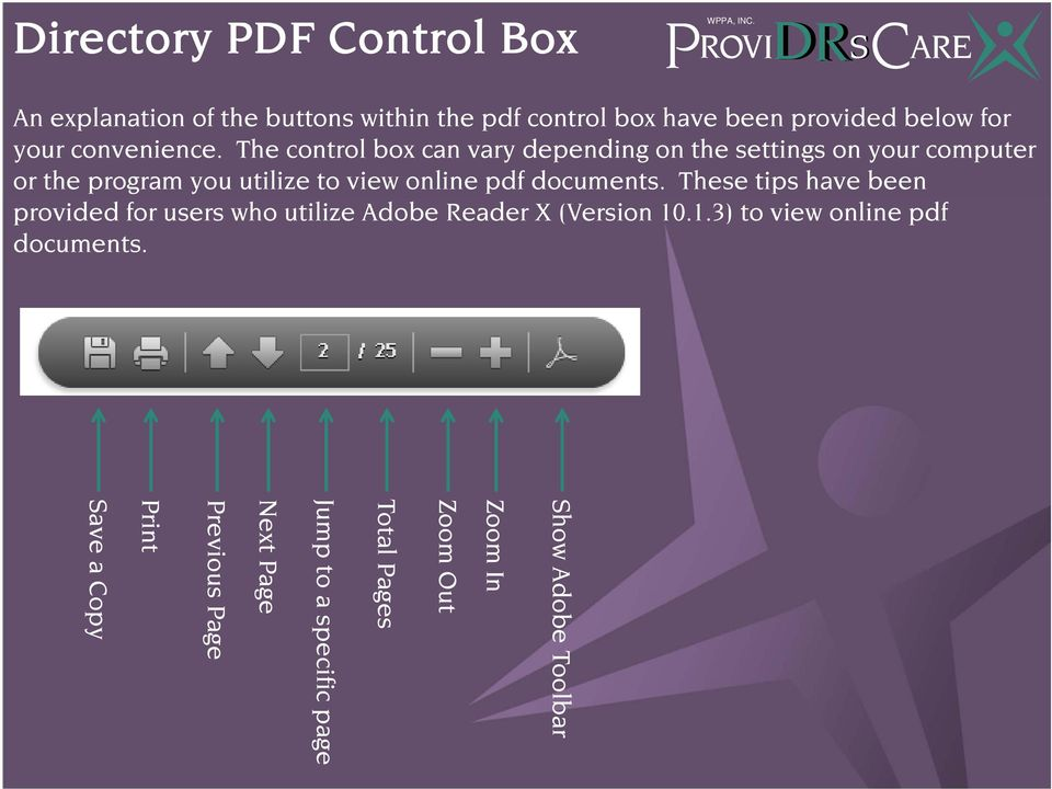 The control box can vary depending on the settings on your computer or the program you utilize to view online pdf