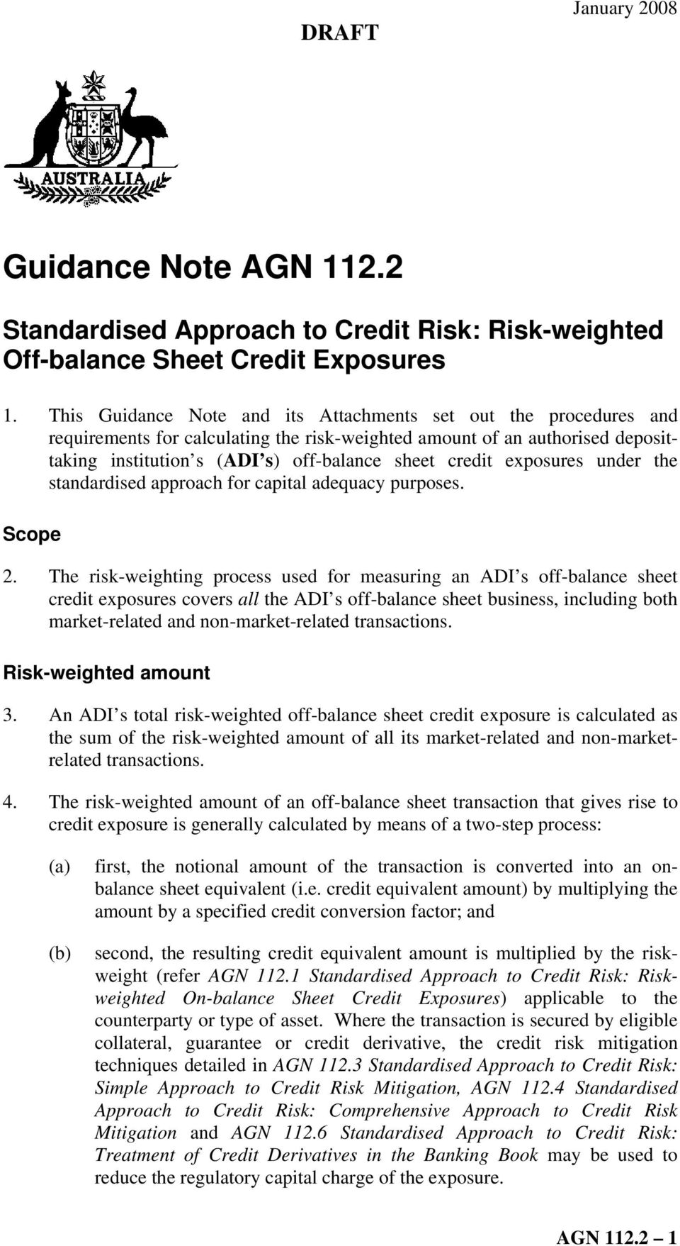 exposures under the standardised approach for capital adequacy purposes. Scope 2.