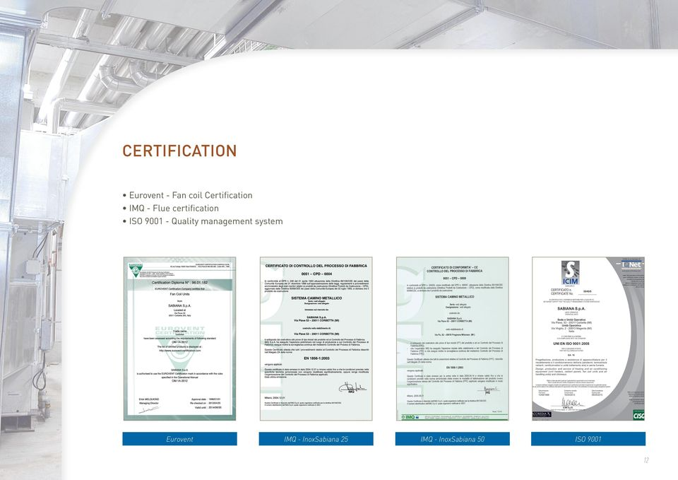 9001 - Quality management system Eurovent