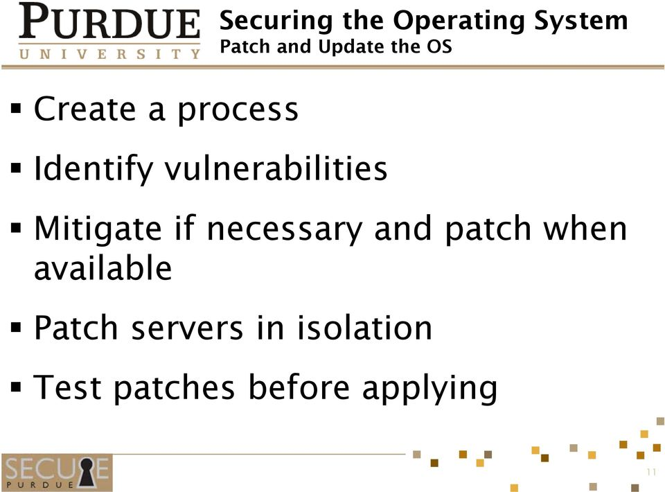 Mitigate if necessary and patch when available