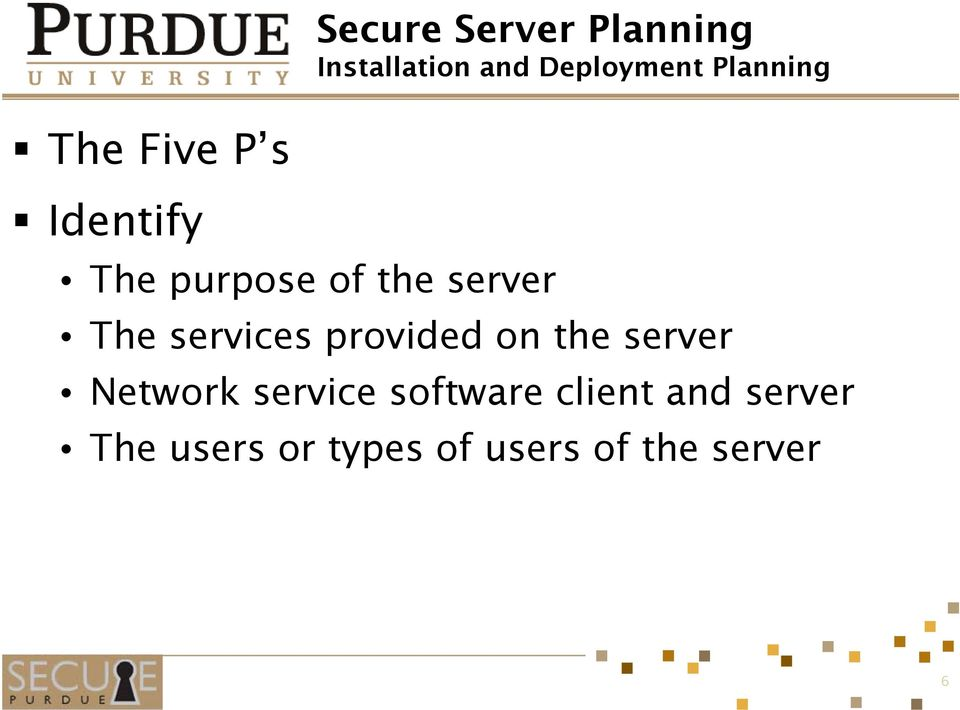 The services provided on the server Network service