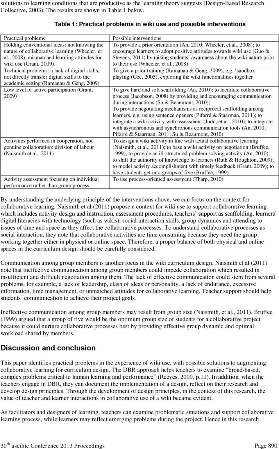 Wiki Based Interventions A Curriculum Design For Collaborative