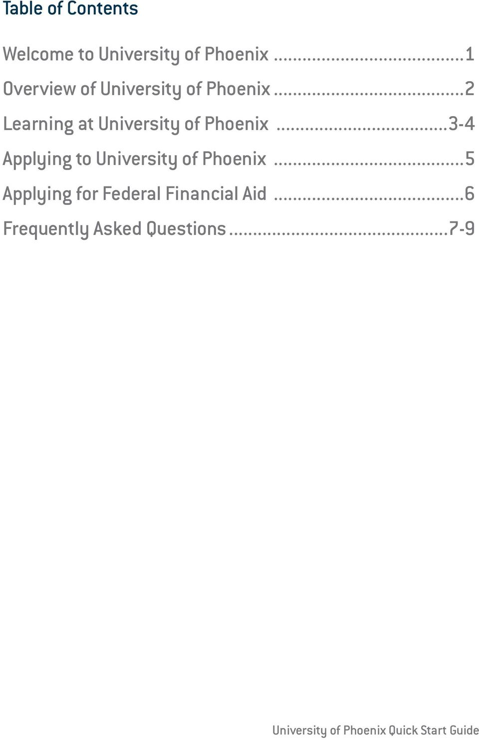 ..2 Learning at University of Phoenix.