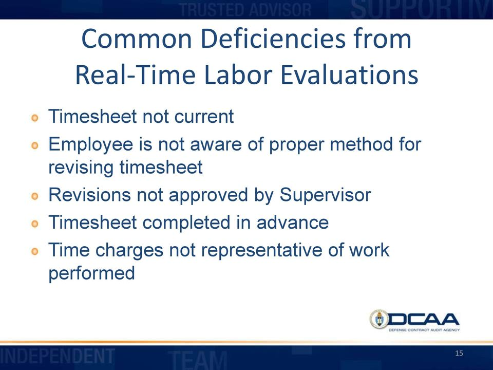 timesheet Revisions not approved by Supervisor Timesheet