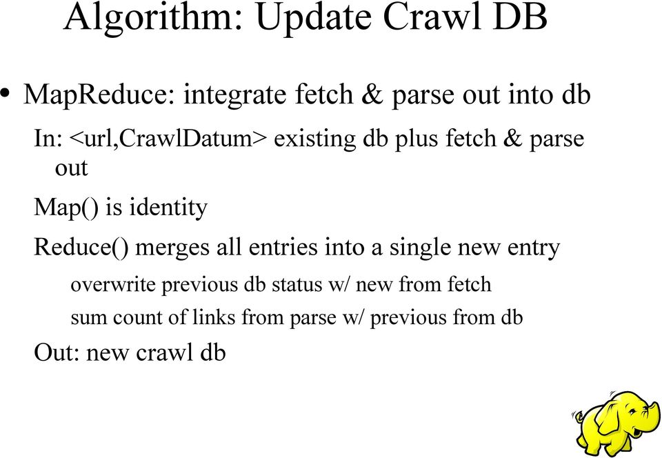 merges all entries into a single new entry overwrite previous db status w/ new