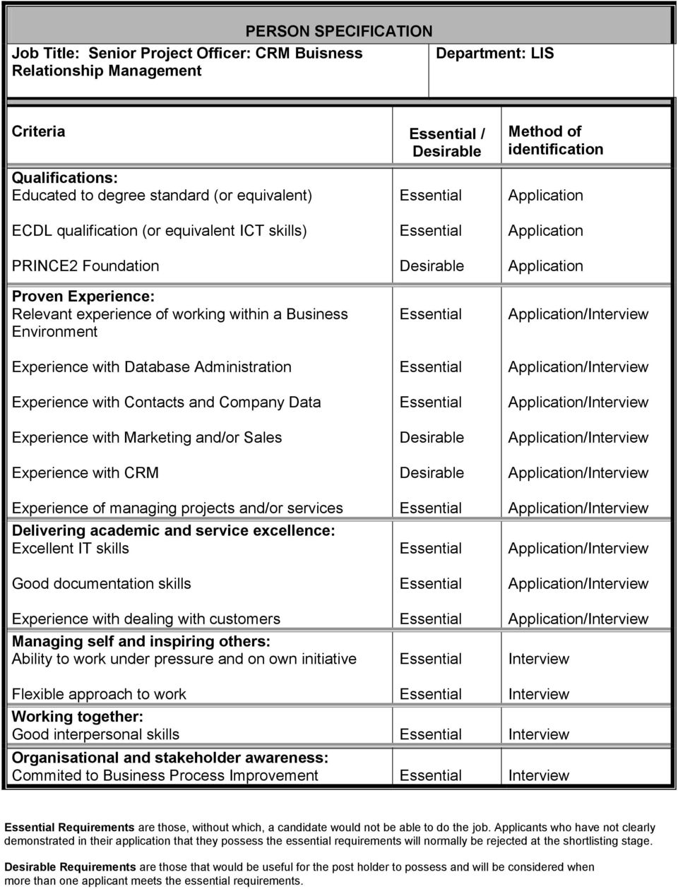 Database Administration Experience with Contacts and Company Data Experience with Marketing and/or Sales Experience with CRM Experience of managing projects and/or services Delivering academic and