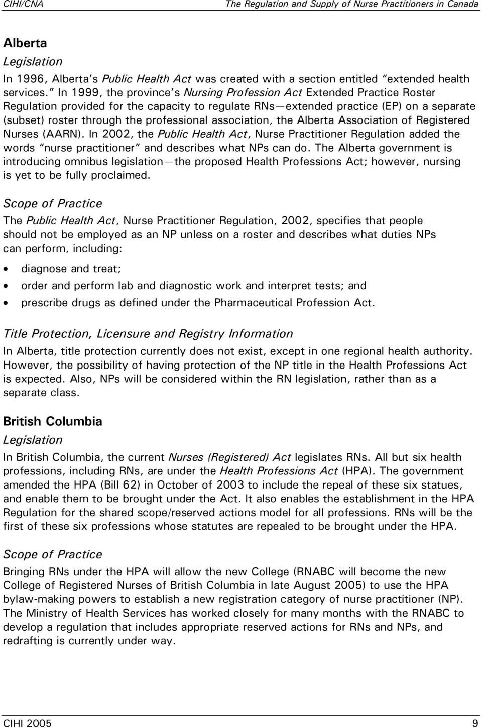 professional association, the Alberta Association of Registered Nurses (AARN).