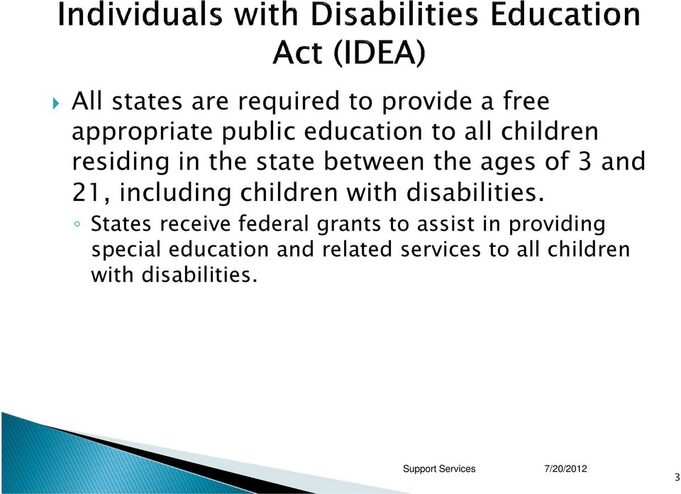 children with disabilities.