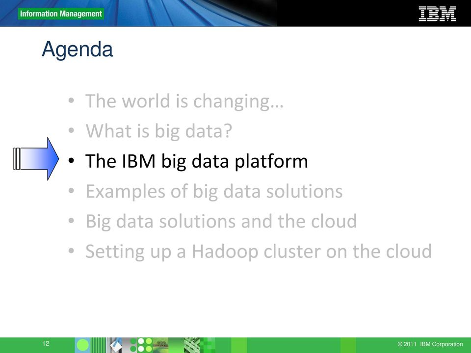 solutions Big data solutions and the cloud Setting