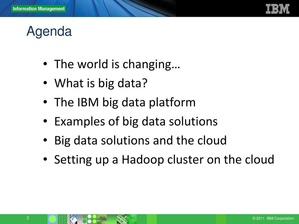 solutions Big data solutions and the cloud