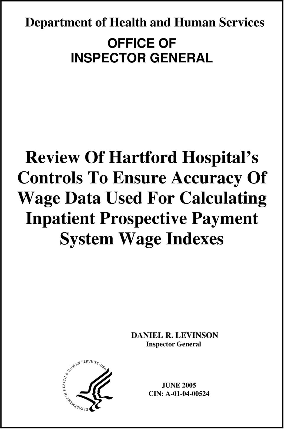Data Used For Calculating Inpatient Prospective Payment System Wage