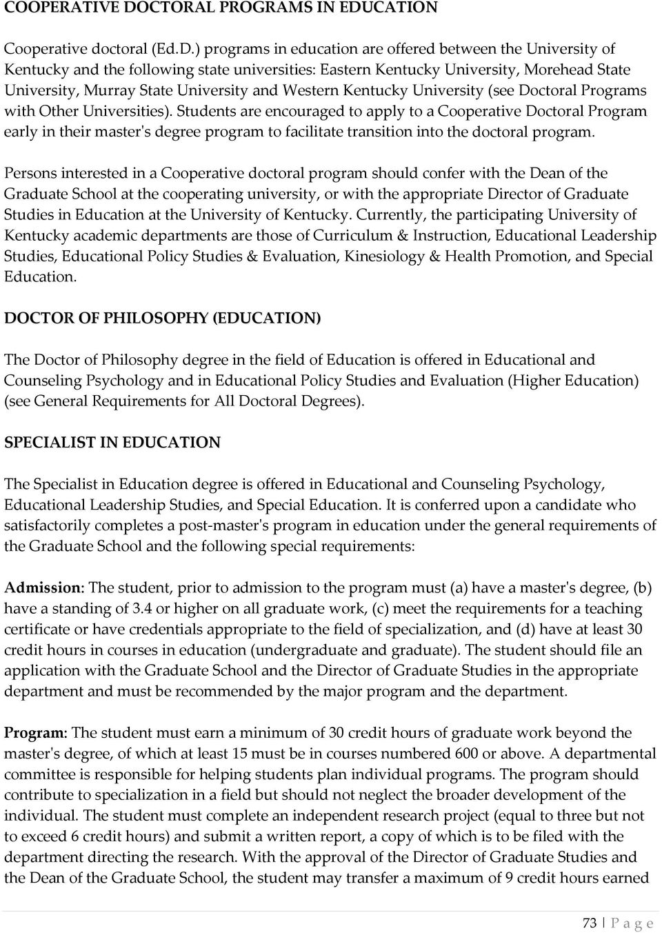 CATION Cooperative doctoral (Ed.D.