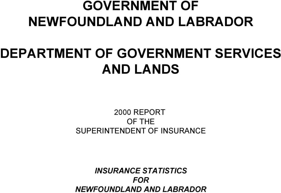 2000 REPORT OF THE SUPERINTENDENT OF