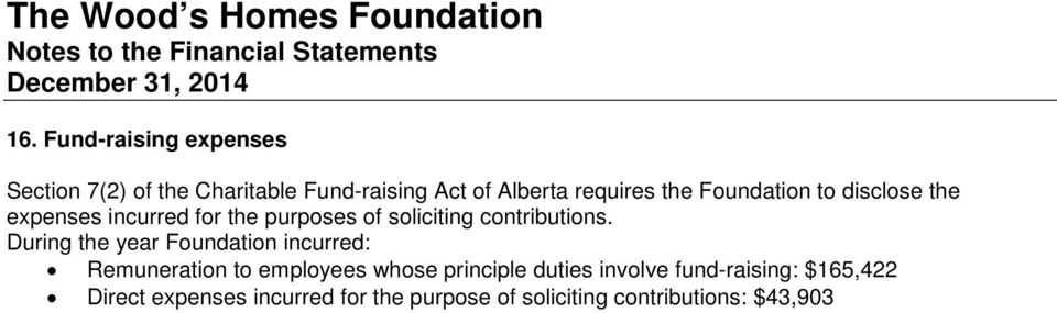 During the year Foundation incurred: Remuneration to employees whose principle duties involve