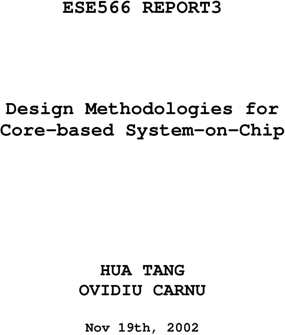 Core-based System-on-Chip