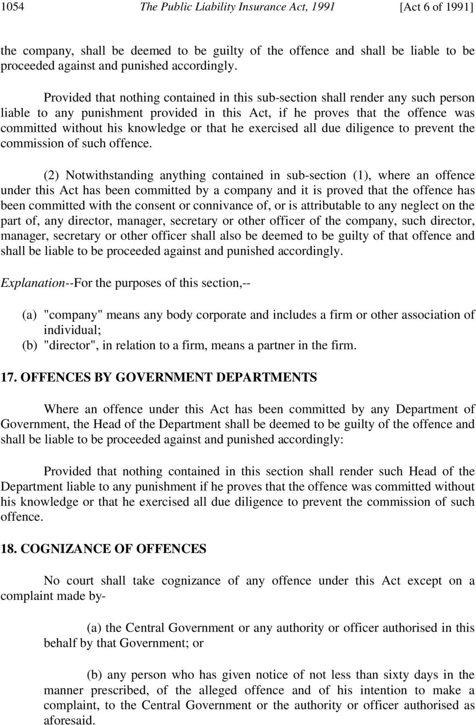 that he exercised all due diligence to prevent the commission of such offence.