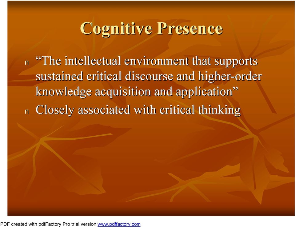 discourse and higher-order knowledge