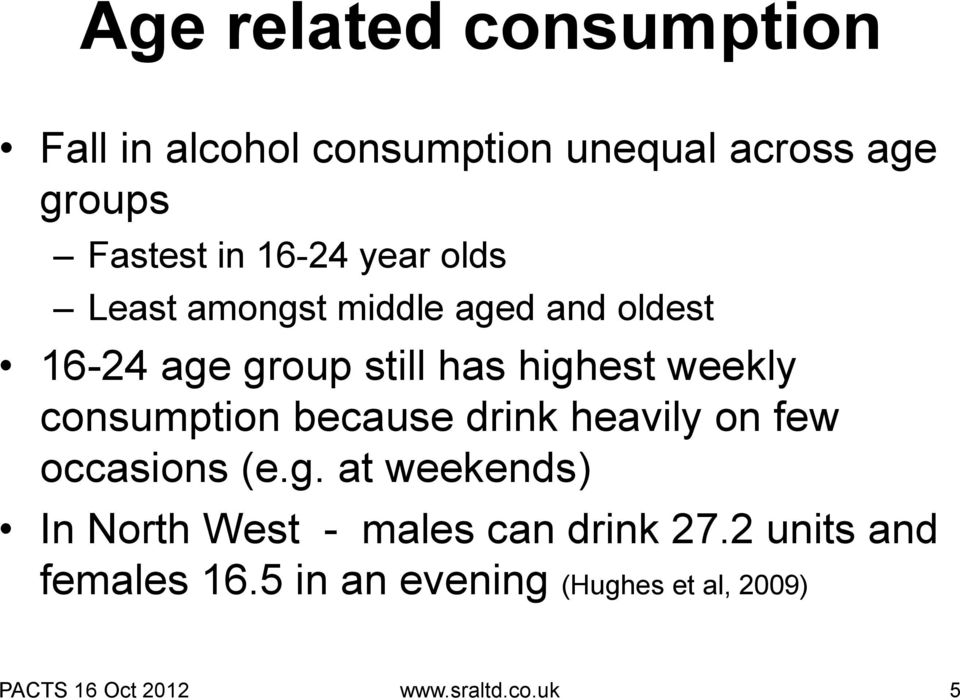 consumption because drink heavily on few occasions (e.g.