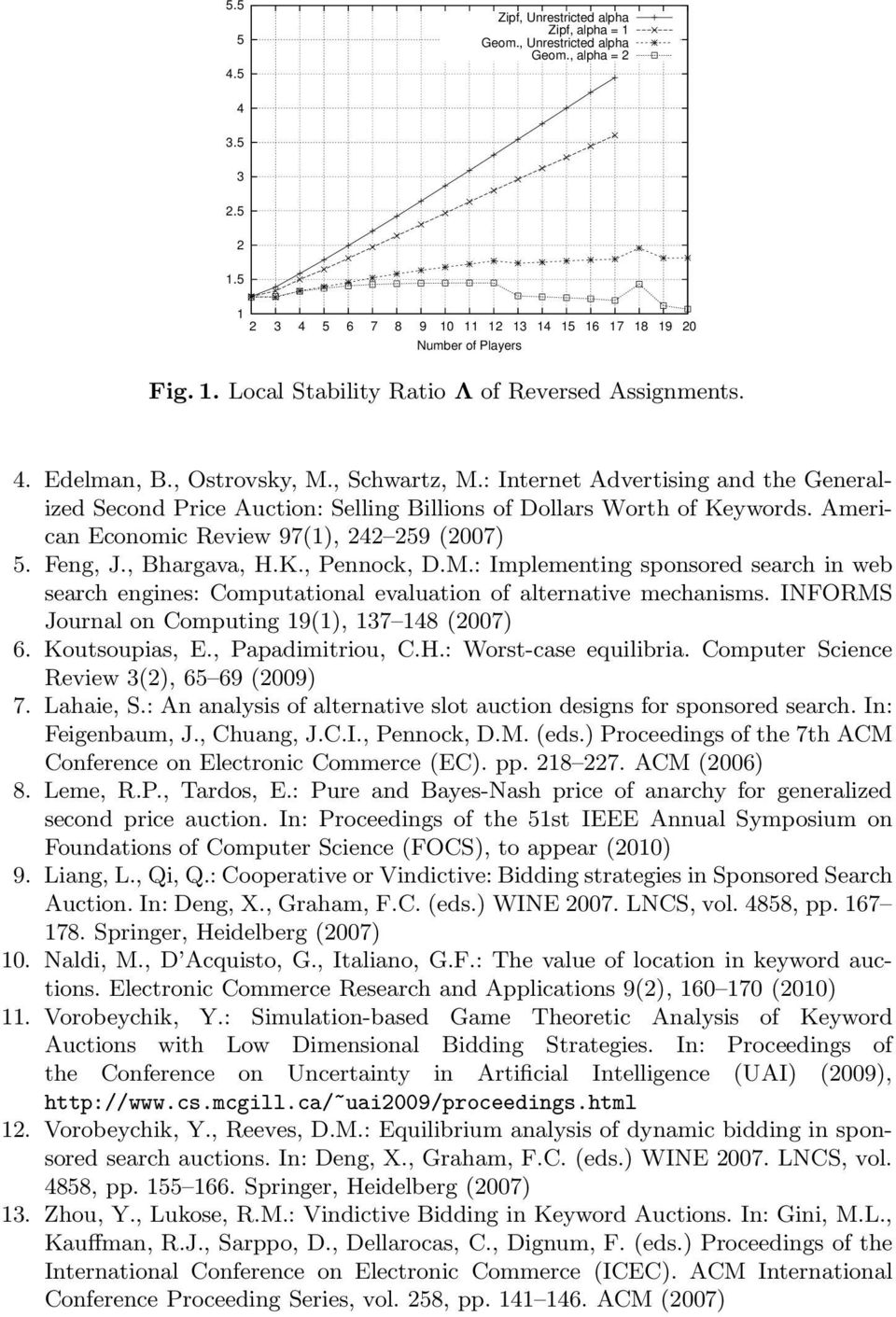 American Economic Review 97(1), 242 259 (2007) 5. Feng, J., Bhargava, H.K., Pennock, D.M.: Implementing sponsored search in web search engines: Computational evaluation of alternative mechanisms.