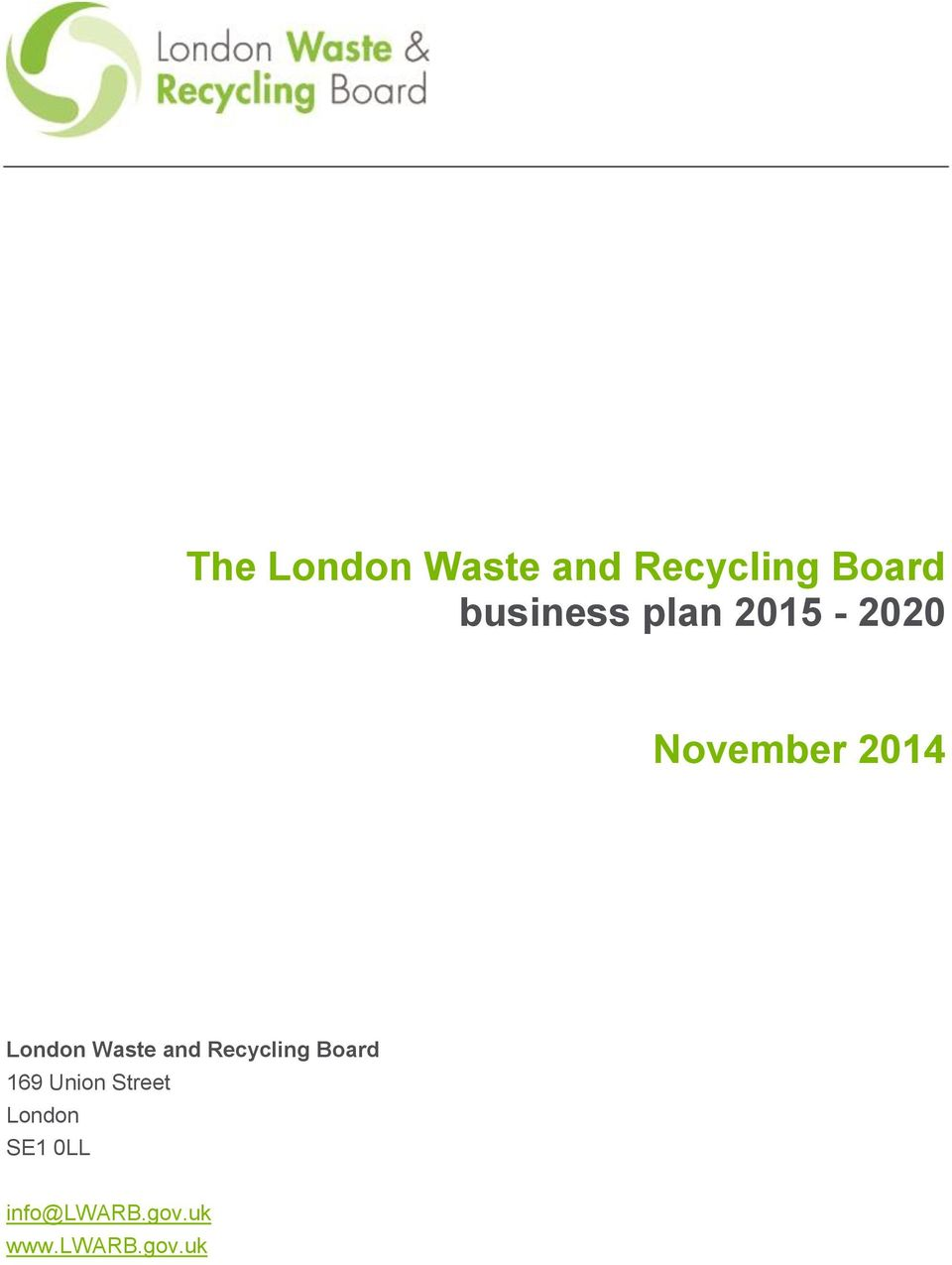 London Waste and Recycling Board 169 Union