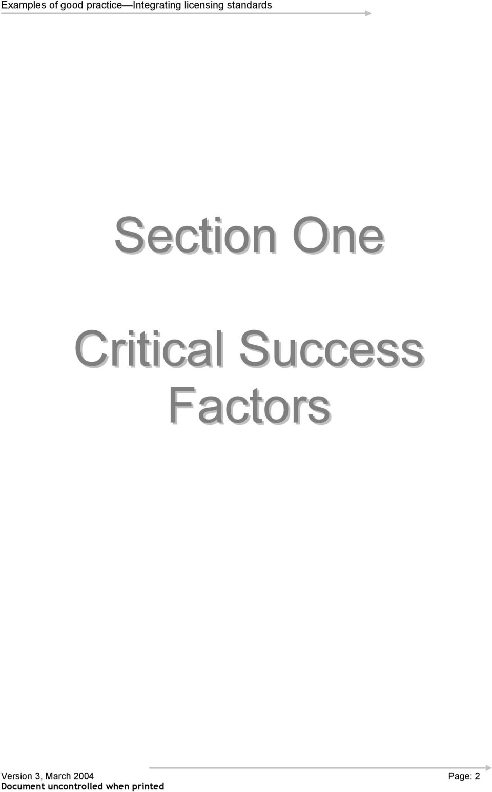 Factors Version
