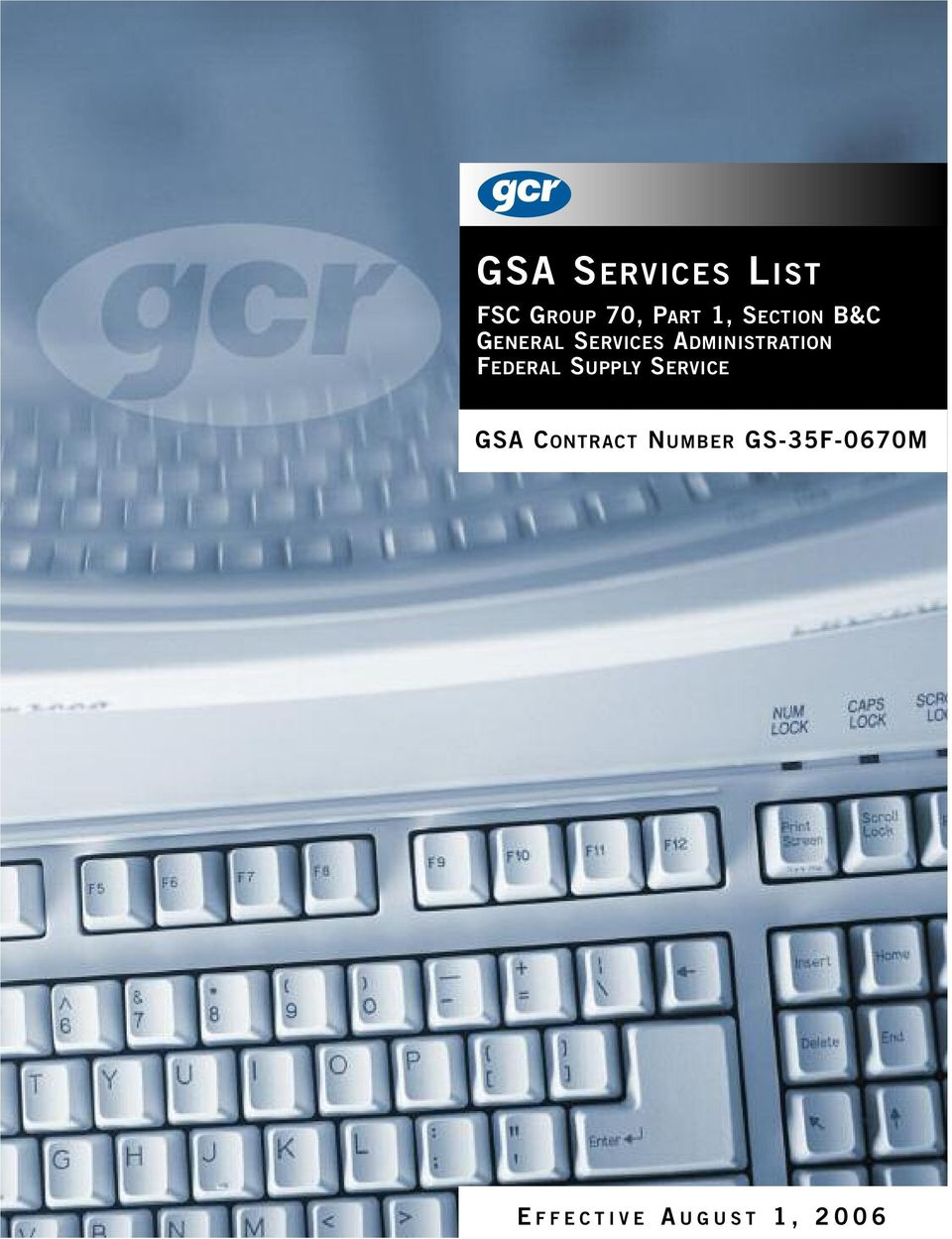FEDERAL SUPPLY SERVICE GSA CONTRACT