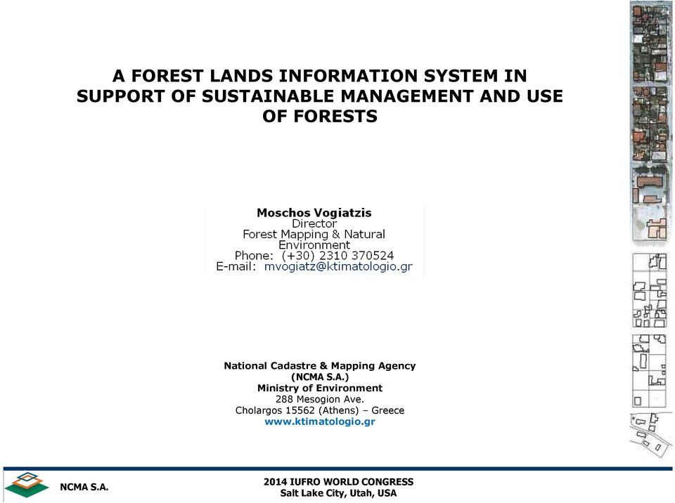 Cadastre & Mapping Agency () Ministry of Environment