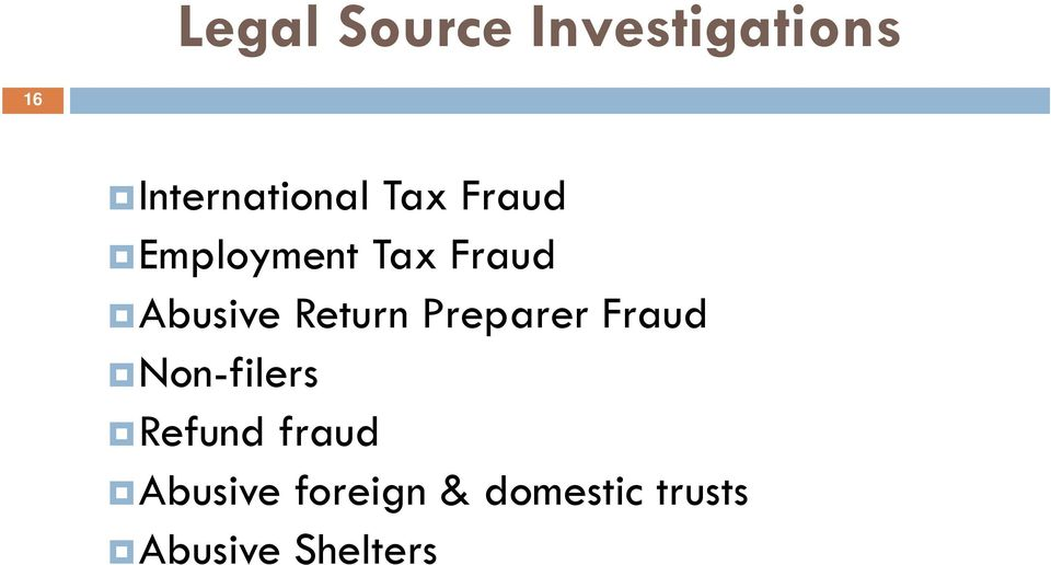 Return Preparer Fraud Non-filers Refund