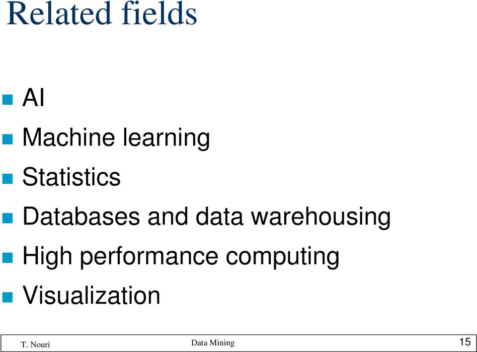 and data warehousing High