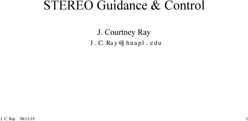 Courtney Ray J.C.Ray@jhuapl.