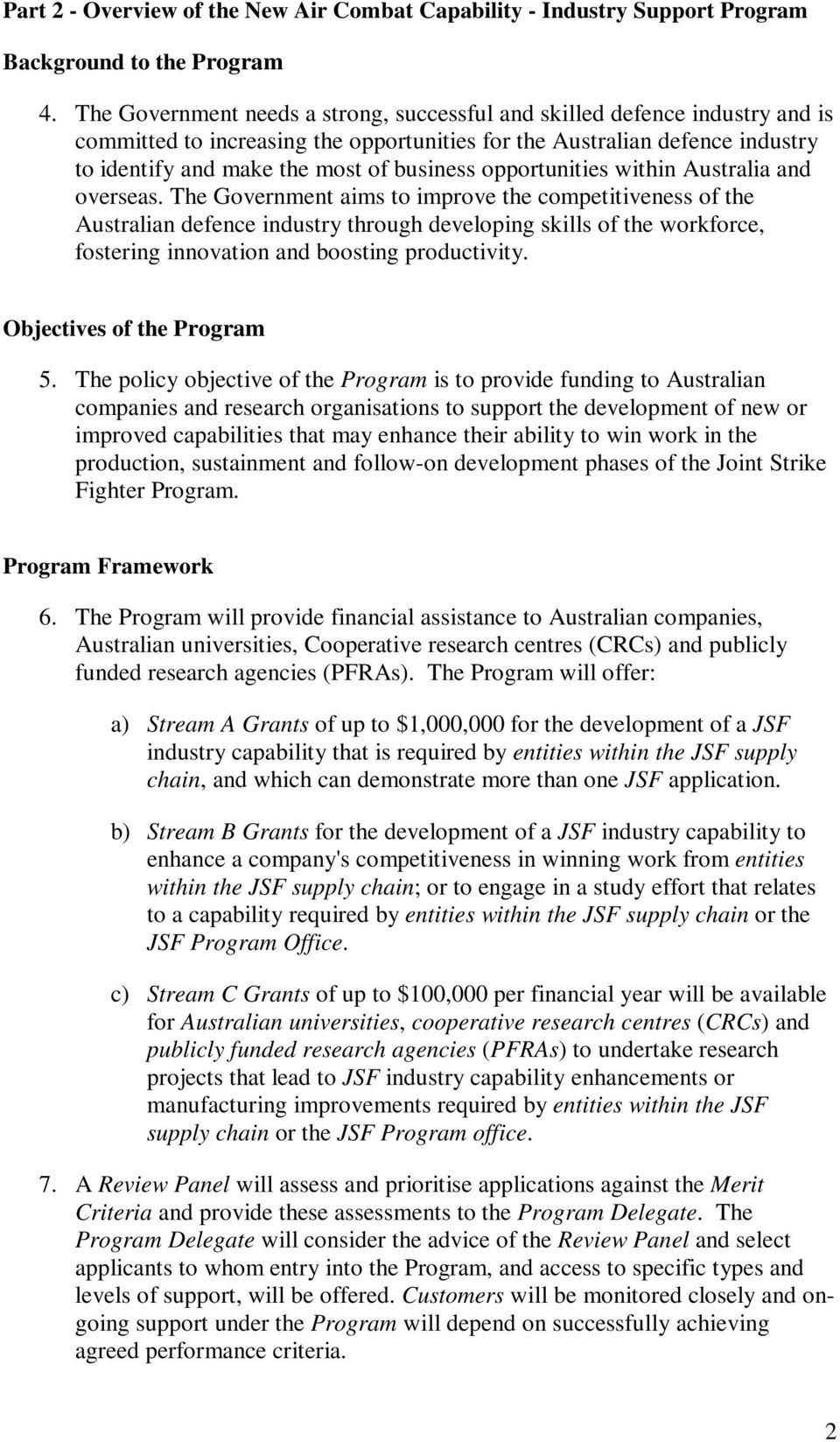 opportunities within Australia and overseas.