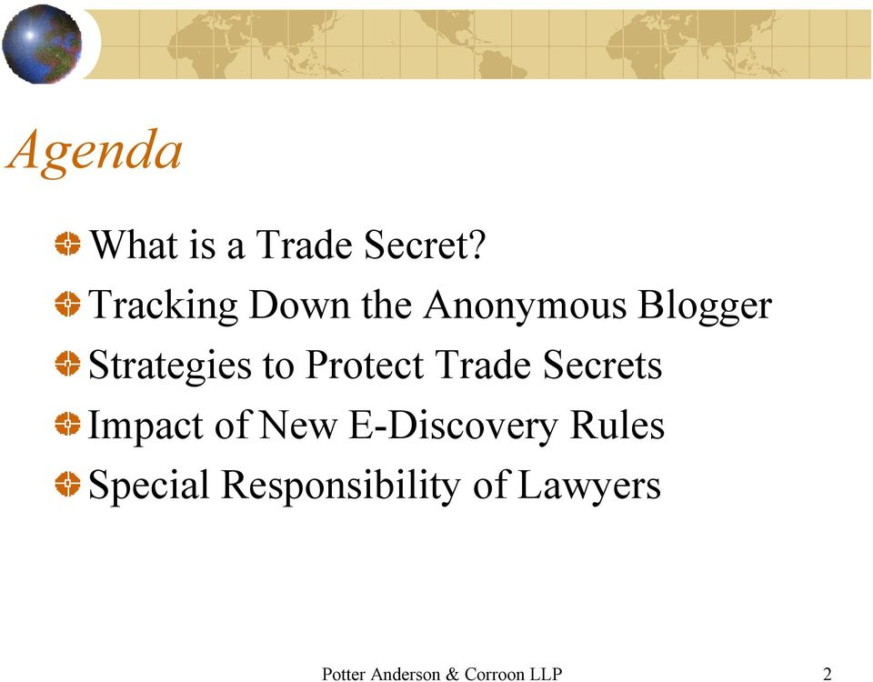Protect Trade Secrets Impact of New E-Discovery