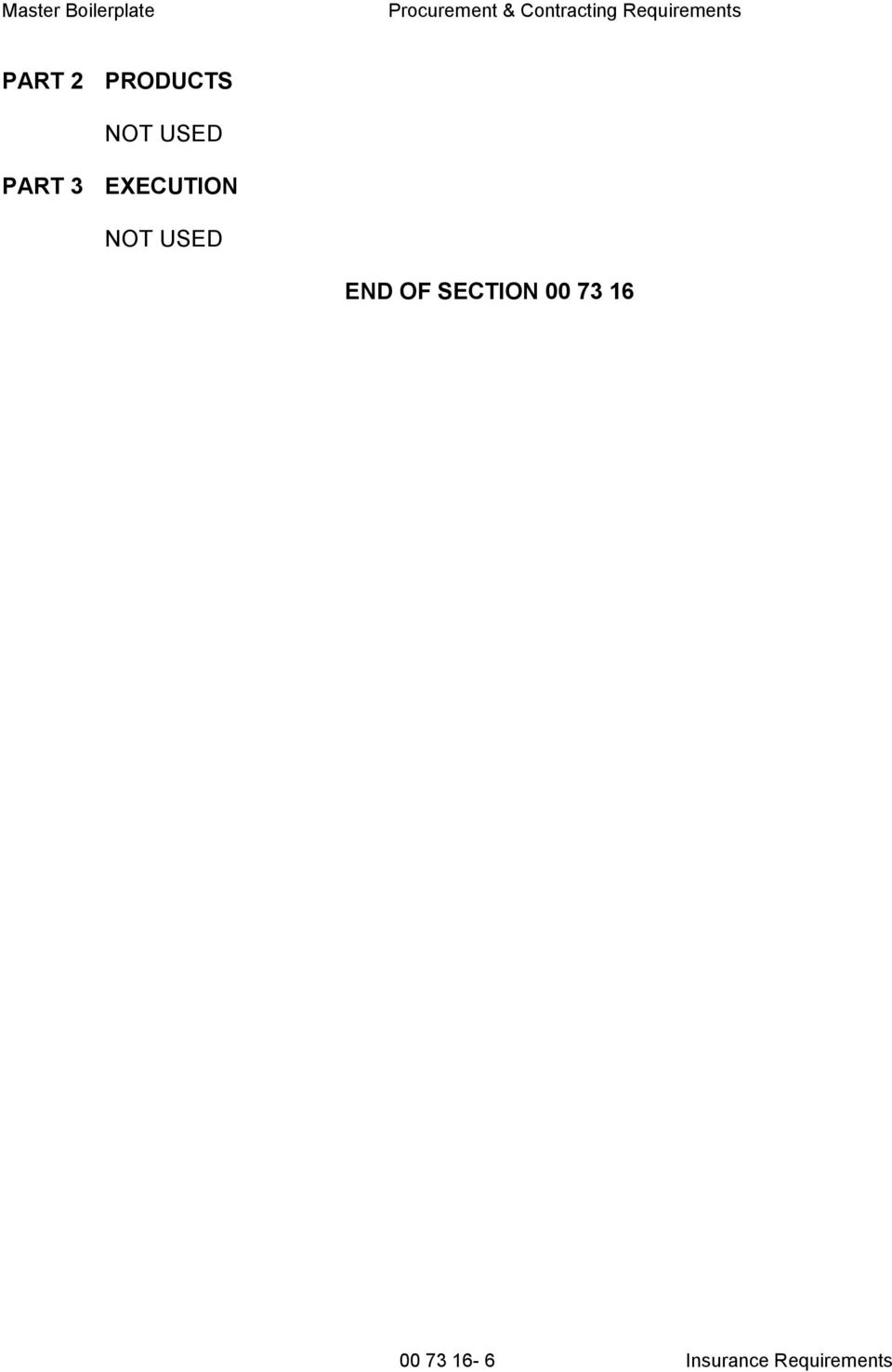 END OF SECTION 00 73 16 00