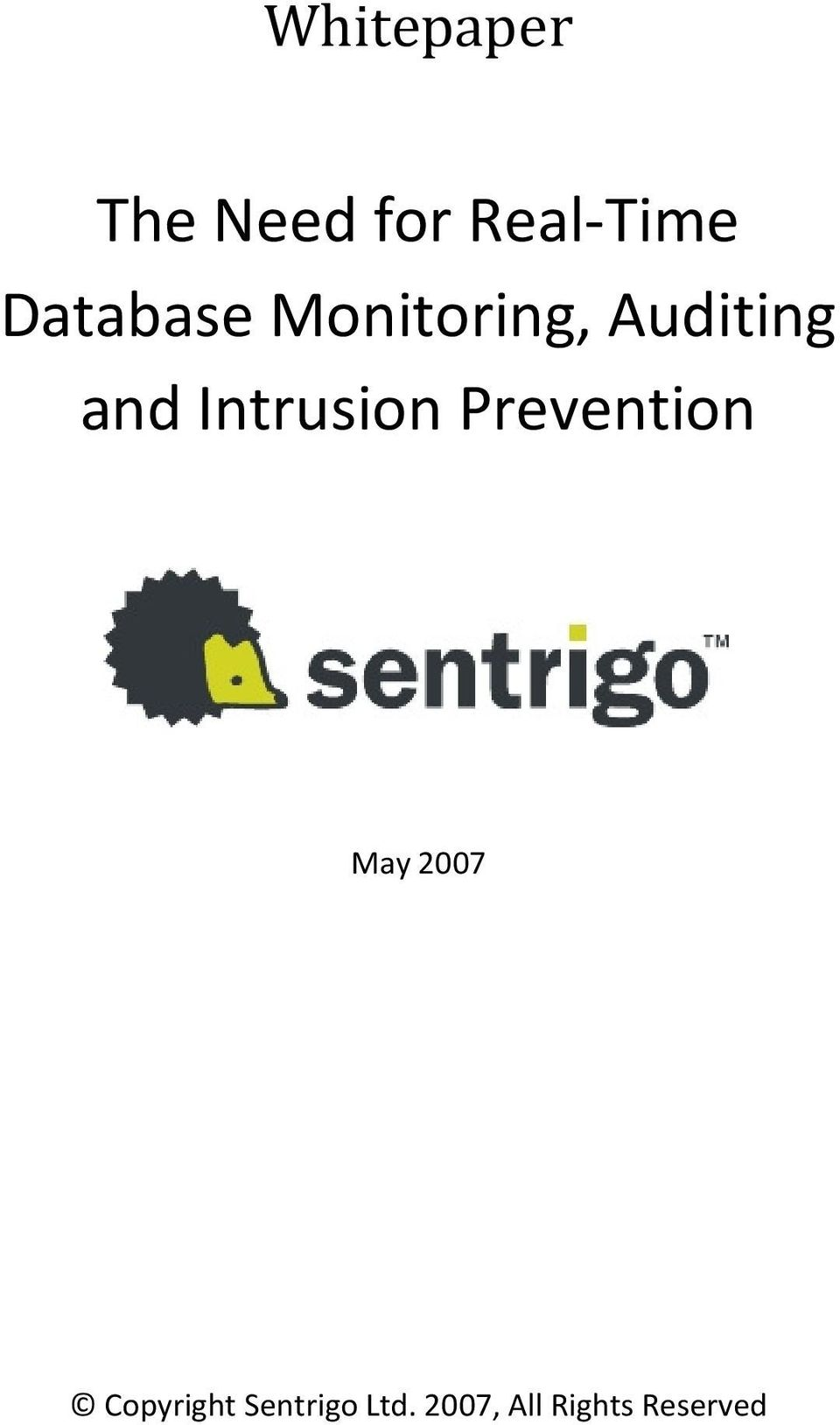 Intrusion Prevention May 2007