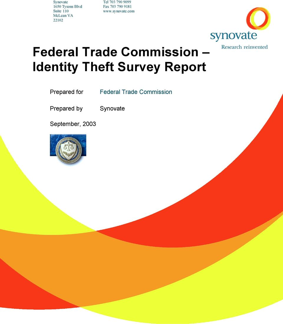 com McLean VA 22102 Identity Theft Survey