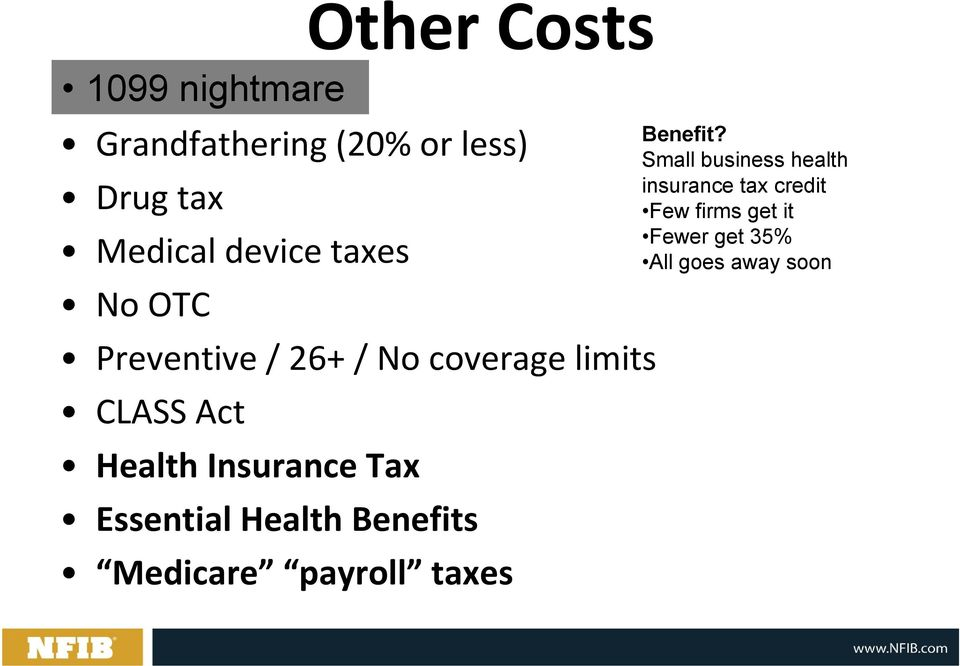 Insurance Tax Essential Health Benefits Medicare payroll taxes Benefit?