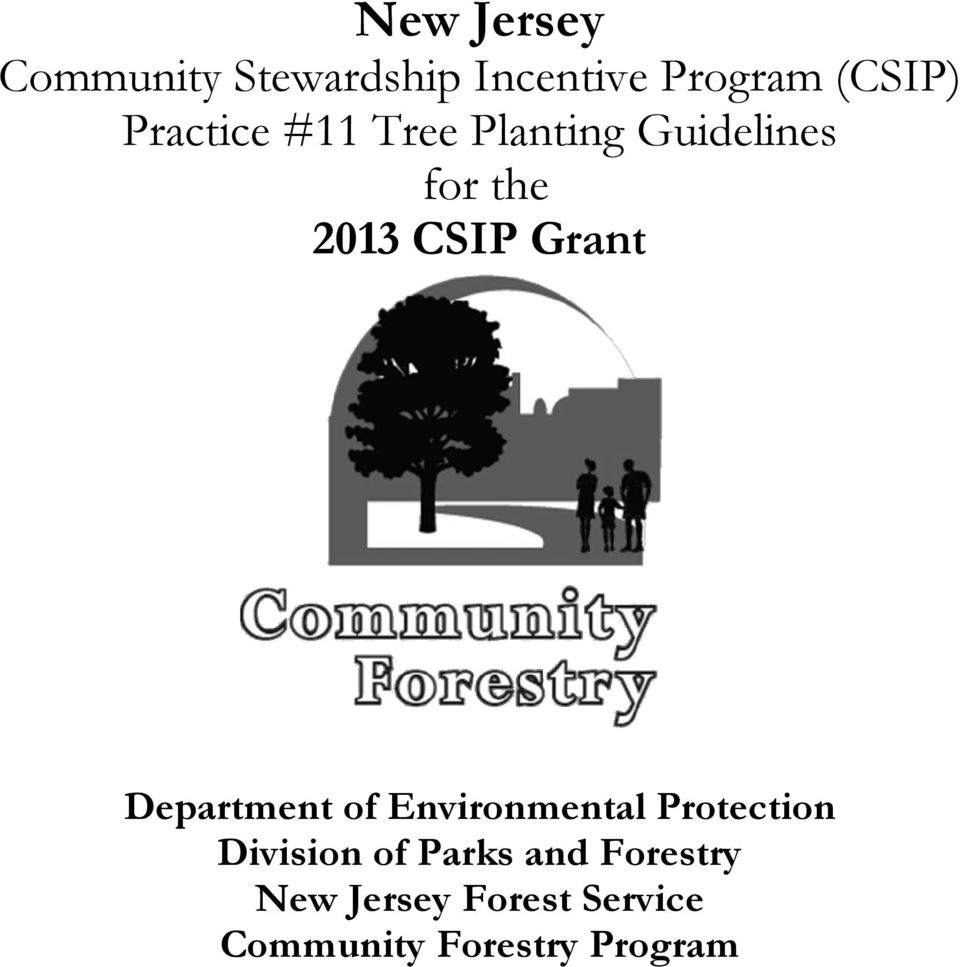 Grant Department of Environmental Protection Division of