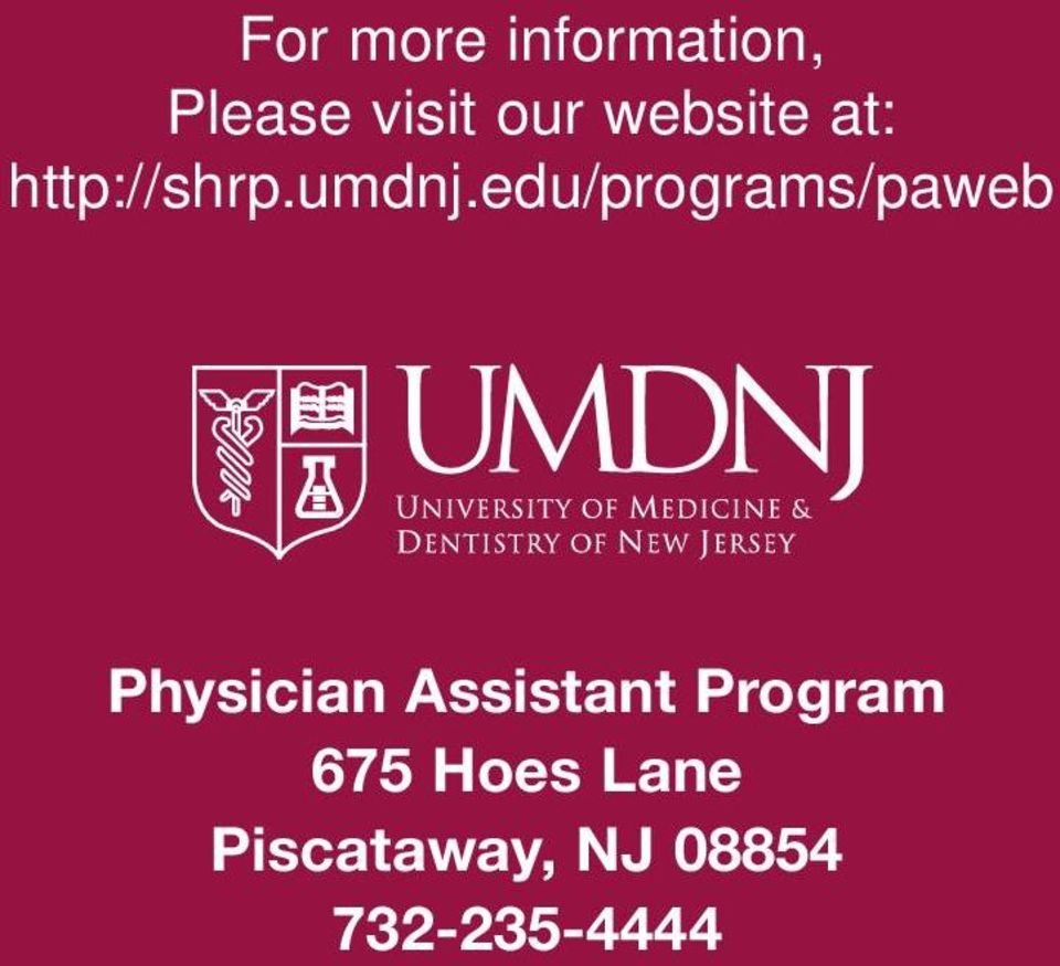 edu/programs/paweb Physician Assistant