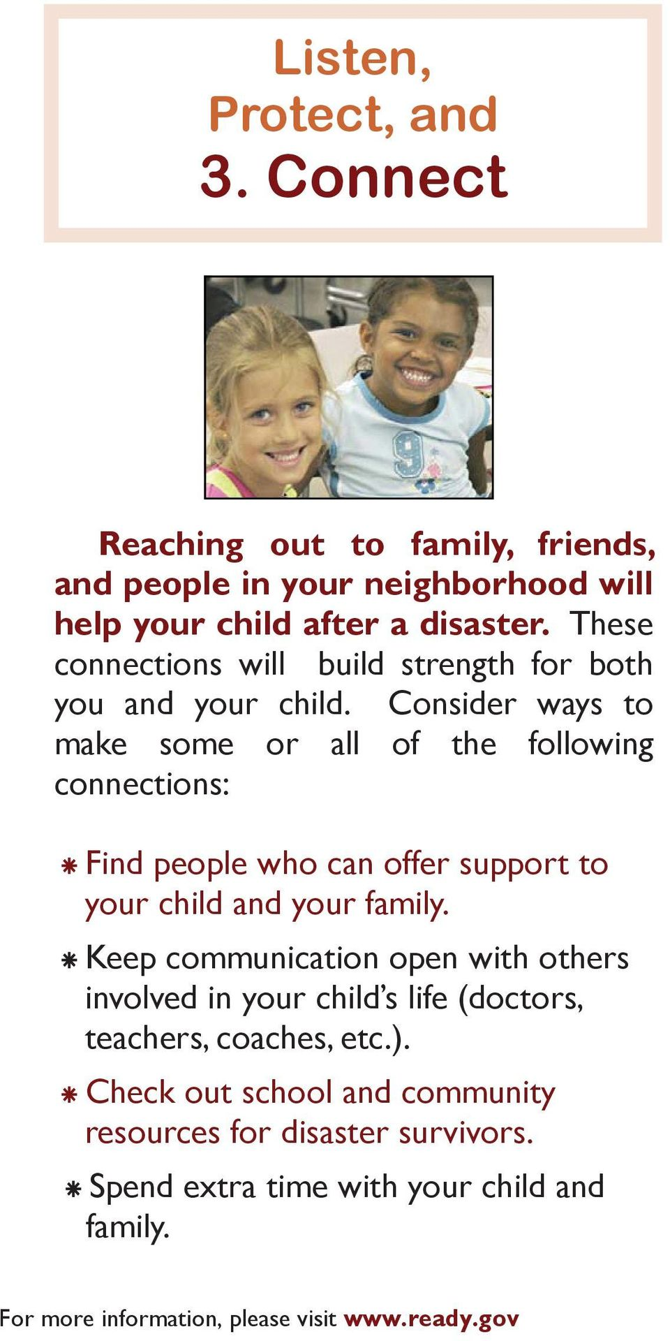 These connections will build strength for both you and your child.